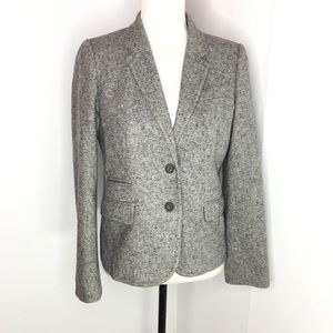 J Crew Schoolboy Gray Donegal Tweed Blazer Size 6